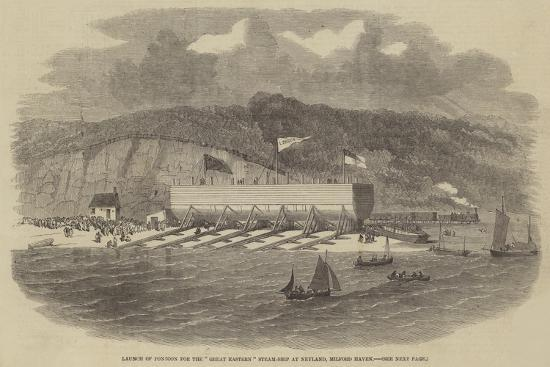 launch-of-pontoon-for-the-great-eastern-steam-ship-at-neyland-milford-haven