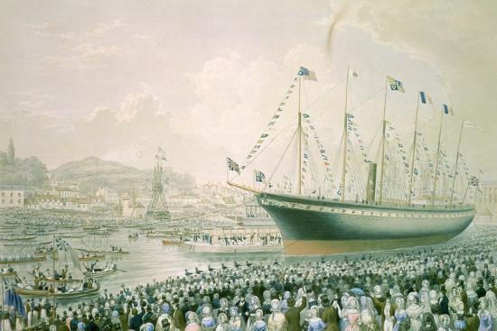 launch-of-the-great-britain-steam-ship-at-bristol-july-9th-1843-c-1843