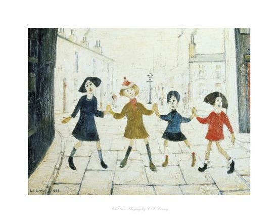 laurence-stephen-lowry-children-playing