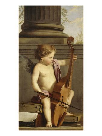 laurent-de-la-hyre-putto-jouant-de-la-basse-de-viole