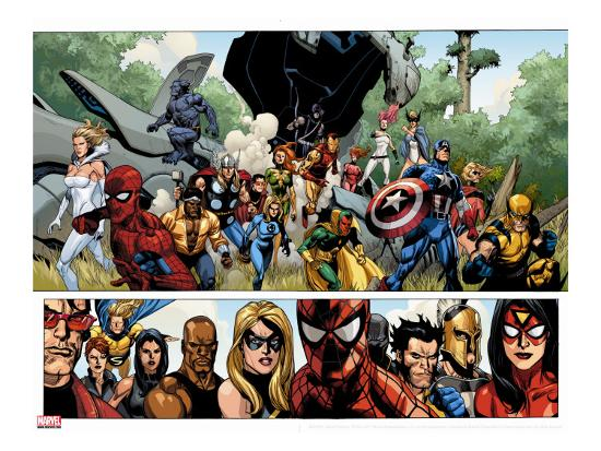 leinil-francis-yu-secret-invasion-no-1-group-captain-america-spider-man-and-vision