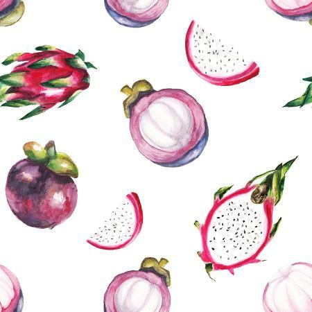 lenavetka87-watercolor-dragon-fruit-and-mangosteen-pattern