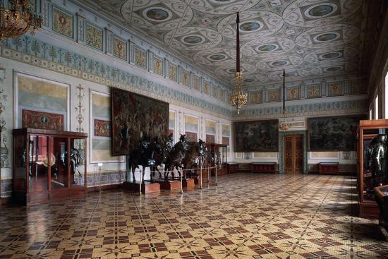 leo-von-klenze-the-knight-hall-arsena-of-the-hermitage-in-saint-petersburg-c19th-century