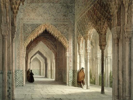 leon-auguste-asselineau-the-court-room-of-the-alhambra-granada-1853