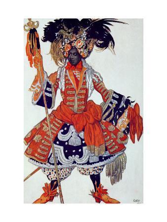 leon-bakst-costume-design-for-the-queen-s-guard-from-sleeping-beauty-1921
