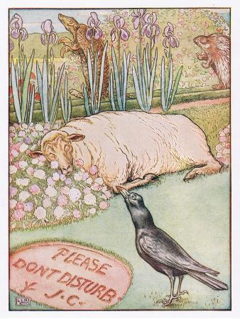 leonard-leslie-brooke-and-the-sheep-went-to-sleep-illustration-from-johnny-crow-s-party-c-1930