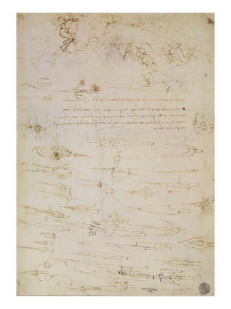 leonardo-da-vinci-sheet-of-studies-of-foot-soldiers-and-horsemen-in-combat-and-halbards-1485-1488
