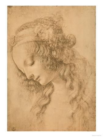 leonardo-da-vinci-study-for-the-face-of-the-virgin-mary-of-the-annunciation-now-in-the-louvre