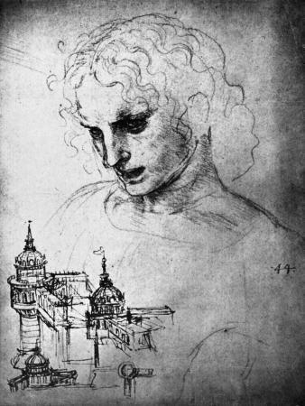 leonardo-da-vinci-study-for-the-head-of-st-james-and-an-architectural-drawing-15th-century