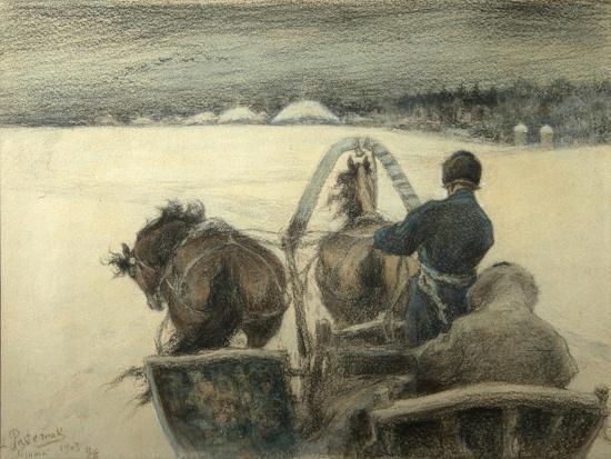 leonid-osipovich-pasternak-on-the-road-to-yasnaya-polyana-1903