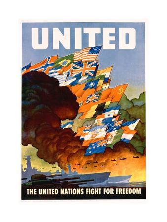 leslie-darrell-ragan-united-the-united-nations-fight-for-freedom-poster