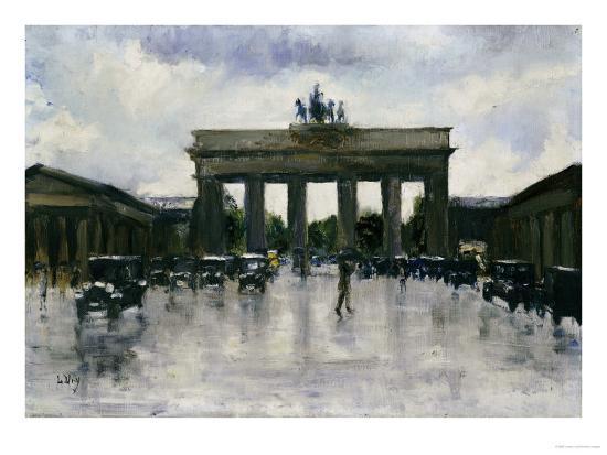 lesser-ury-the-brandenburg-gate