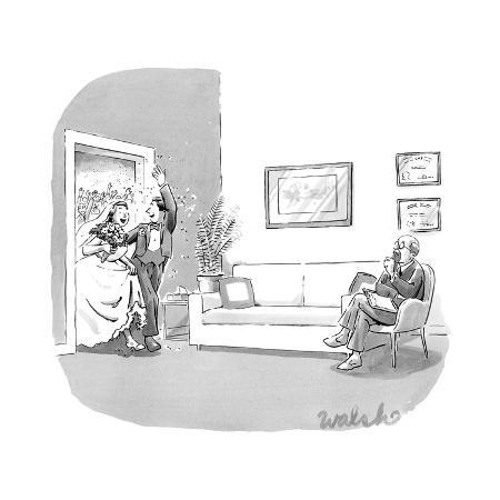 liam-walsh-a-couple-who-have-just-been-married-walk-through-a-door-with-confetti-bei-new-yorker-cartoon