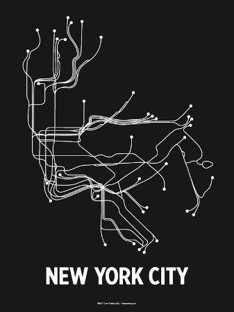 lineposters-new-york-city-black-pearl-white