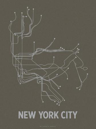 lineposters-new-york-city-charcoal-brown-silver