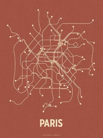 lineposters-paris-brick-red-tan