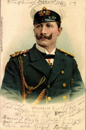 litho-kaiser-wilhelm-ii-v-preussen-schirmmuetze