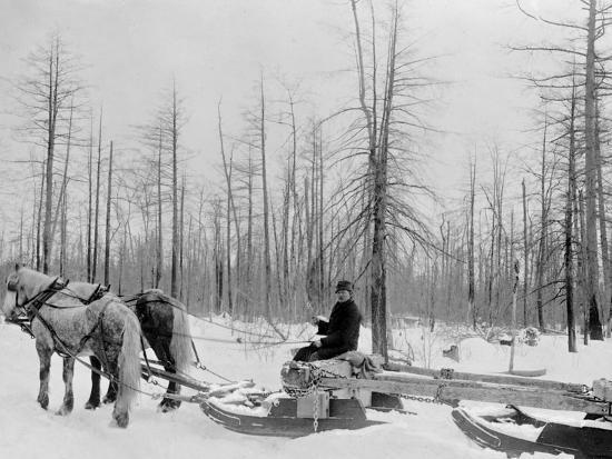 logging-in-michigan-the-sled