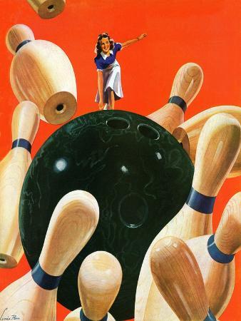 lonie-bee-bowling-strike-march-15-1941