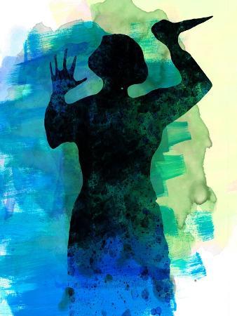 lora-feldman-psycho-in-the-shower-watercolor