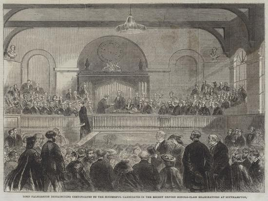 lord-palmerston-distributing-certificates-to-the-successful-candidates-in-the-recent-oxford-middle