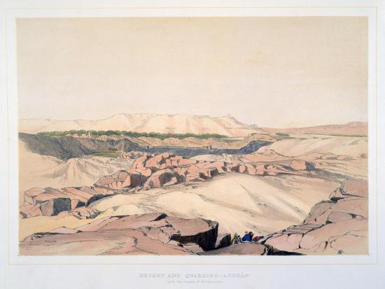 lord-wharncliffe-desert-and-quarries-asouan-with-the-island-of-elephantine-egypt-19th-century
