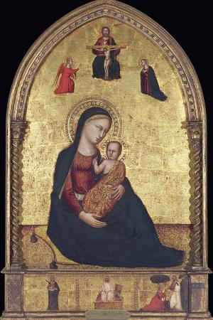 lorenzo-di-bicci-madonna-and-child-with-the-holy-trinity-and-the-annunciation