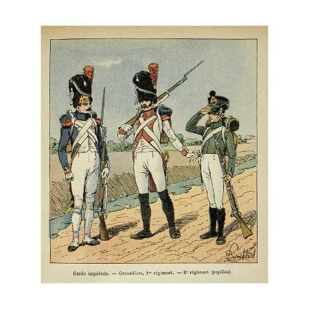 louis-bombled-napoleon-s-imperial-guard-1st-regiment-grenadier-and-pupils-of-the-2nd-regiment