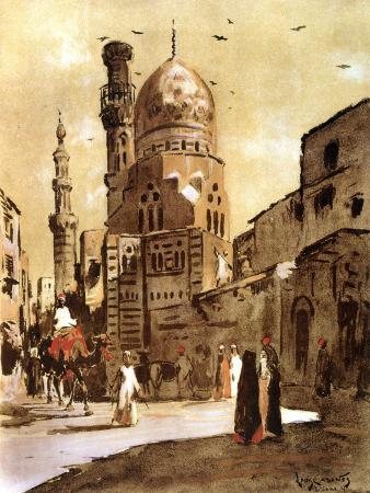 louis-cabanes-the-blue-mosque-cairo-egypt-1928