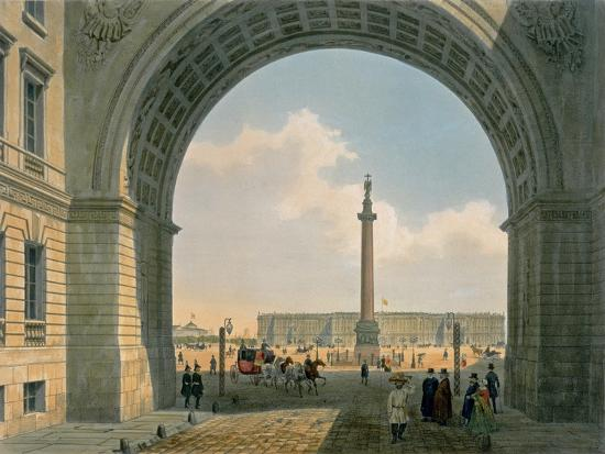 louis-jules-arnout-palace-square-arch-of-the-army-headquarters-st-petersburg-printed-by-lemercier-paris-c-1840