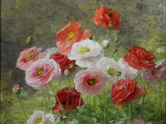 louis-marie-lemaire-cluster-of-poppies-1884