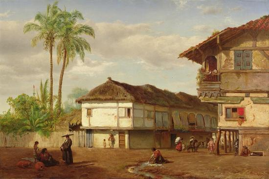 louis-remy-mignot-street-view-of-guayaquil-ecuador-1859
