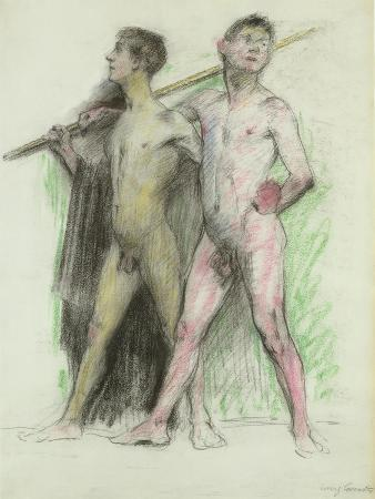lovis-corinth-study-of-two-male-figures