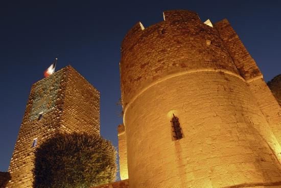 low-angle-view-of-a-castle-le-suquet-cannes-france