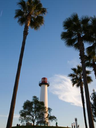 low-angle-view-of-a-lighthouse-shoreline-village-long-beach-los-angeles-county-california-usa