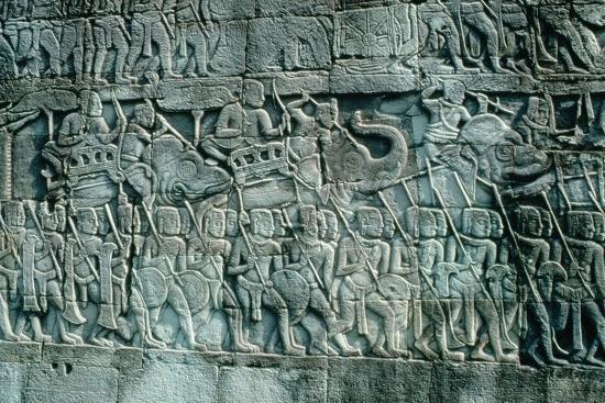 low-relief-sculpture-of-war-elephants-and-foot-soldiers-c-1181-1220
