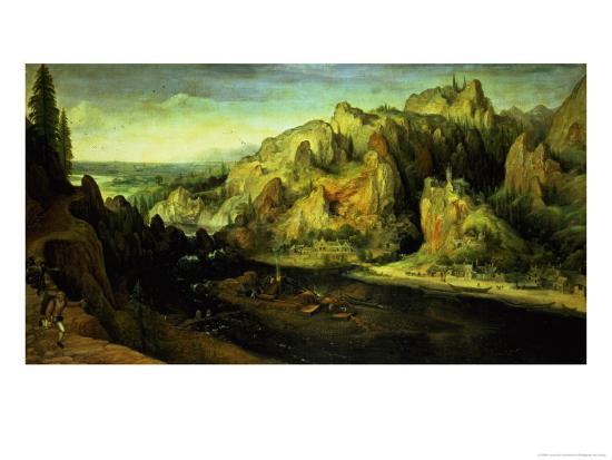lucas-van-valckenborch-mountain-landscape-with-a-surprise-attack-circa-1585