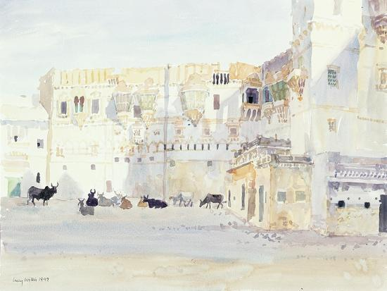 lucy-willis-evening-at-the-palace-bhuj-1999