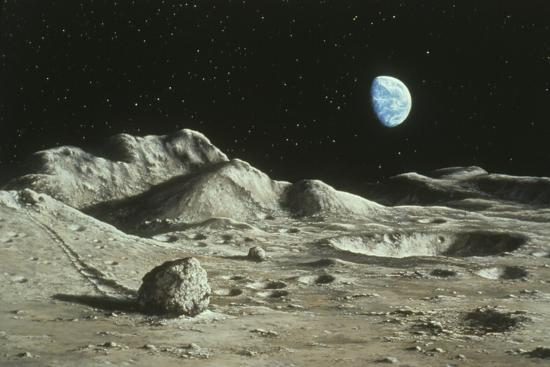 ludek-pesek-artwork-of-moon-s-surface-with-earth-in-the-sky