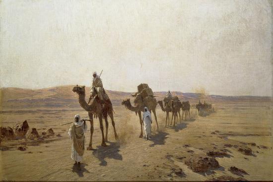 ludwig-hans-fischer-an-arab-caravan-1903