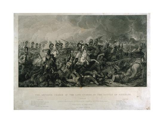 luke-clennell-the-decisive-charge-of-the-life-guards-at-waterloo-in-1815-engraved-by-william-bromley-1821
