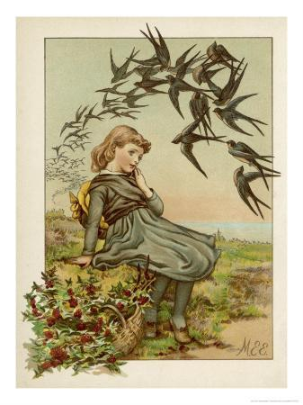 m-ellen-edwards-thoughtful-girl-watches-the-swallows-migrate-to-warmer-climes