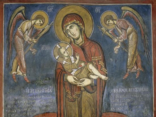 madonna-with-child-between-archangels-fresco
