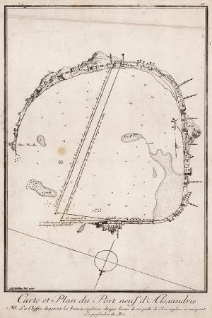 map-and-plan-of-the-port-of-alexandre-egypt