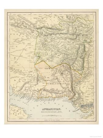 map-of-afghanistan-and-beluchistan