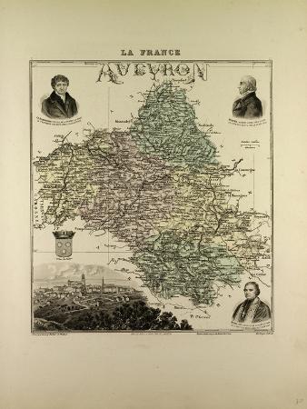 map-of-aveyron-1896-france