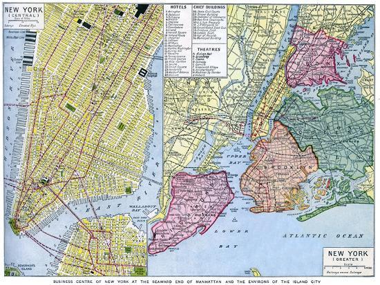 map-of-new-york-city-usa-c1930s