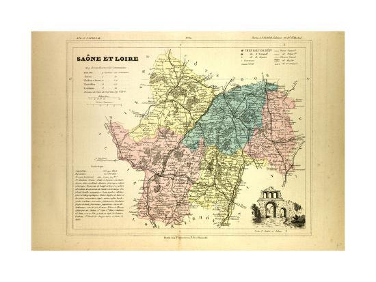 map-of-saone-et-loire-france
