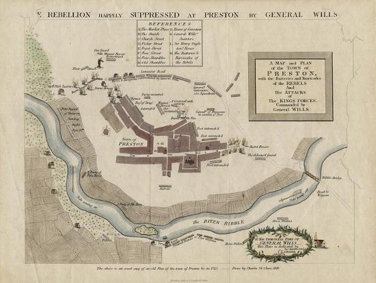map-of-the-battle-of-preston-of-1715-1818