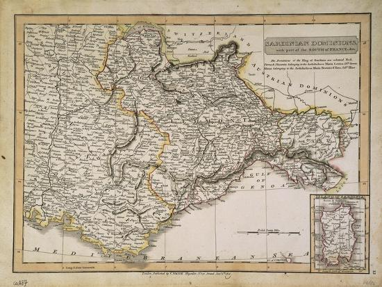 map-of-the-states-under-the-king-of-sardinia-london-on-copper-1816